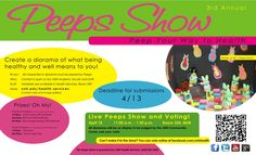 3rd Annual Peeps Show is announced!