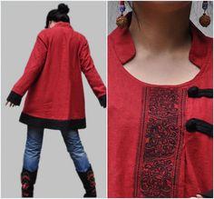 Linen asymmetric blouse/ pullover Coat
