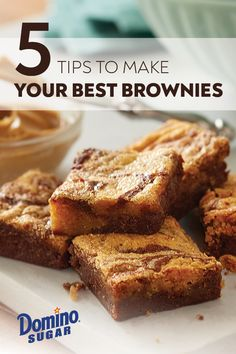 Five Tips to Make Your Best Brownies Ever Chewy Brownies, Blondie Brownies, Best Brownies, Butterscotch Bars, Bakers Chocolate, Brownie Ingredients, Little Cakes, Baking Tips, Brownie Recipes