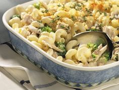 Perfect family dinner #recipe. Serves 6 and takes 50 minutes to make. https://www.healthyfamiliesbc.ca/home/blog/tuna-casserole