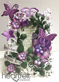 Heartfelt Creations | Purple Butterfly Birthday