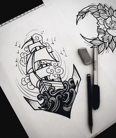 We have compiled the world's most popular tattoo designs for you. Here are the 30 most admired tattoos in the world! Tatto Ink, Tatoo Art, Body Art Tattoos, Sleeve Tattoos, Cool Tattoos, Stencils Tatuagem, Tattoo Stencils, Tattoo Sketches, Tattoo Drawings