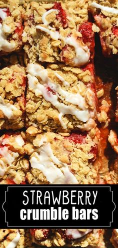 These Strawberry Crumble Bars are what you want to make as soon say you find Spring's gorgeous strawberries at the market. They are made with an oat base and crumble and are better when chilled. But I guarantee they'll be gone before it's totally chilled. #savoringitaly #srawberry #crumble #bars #oats #dessert #breakfast Easy Desserts, Awesome Desserts, Lasagna, Cauliflower, Strawberry, Fresh, Bar, Vegetables, Breakfast