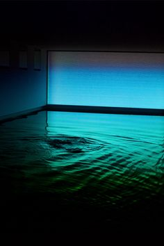 James Turrell (b. 1943, Los Angeles, CA) - Baker Pool, 2002-2008. James Turrell's Installation in the basement of a Greenwich, Connecticut barn belonging to Richard and Lisa Baker and their three children.