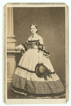 Mrs. Lucy Gwin of Washington, D.C.   Photograph by William Emerson Strong (1840-1891), taken in the mid-1860s  http://happygolovely.tumblr.com/page/38#