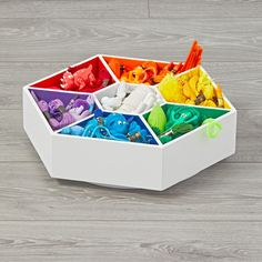 Shop Kids Lazy Susan Organizer. Don't let the name of this Lazy Susan Art Caddy fool you. It actually works pretty hard by keeping tons of art supplies in reach with its spinning design. Plus, the rainbow color scheme makes it a work of art in itself.