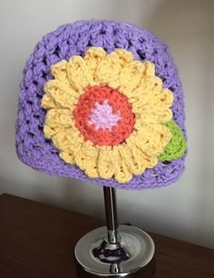 A personal favorite from my Etsy shop https://www.etsy.com/listing/248943062/crochet-daisy-hat