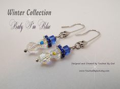 Christmas Snowman Earrings ~ Genuine Swarovski Crystal ~ Do you want to build a Snowman? Fancy crystal earrings will look fabulous for a night out Christmas shopping, for a Christmas Party, or with your new Christmas outfit! Visit my shop @ www.TouchedByGod.etsy.com!