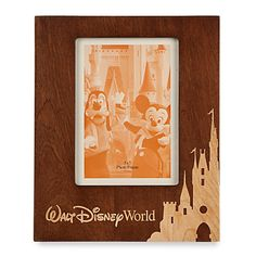 US$ 27  - valor médio, sem frete ou impostos (sujeito à alteração sem qualquer aviso). Walt Disney World Wood Photo Frame - Portrait - 5'' x 7''