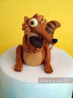Scrat, Ice Age #cake #topper by tiavero12, via Flickr