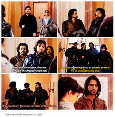 The Musketeers - 2x01 - Keep Your Friends Close, the smoothest wingmen in paris. <3