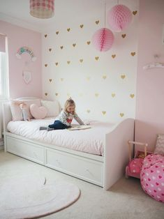 Amelie's bedroom has to be my favourite room in our home. When we chose the theme for her room we went for girly, magical, a… - Amelie's Soft Pink and Gold Toddler Bedroom Pink Bedroom Design, Pink Bedroom Decor, Girl Bedroom Designs, Baby Room Decor, Girls Room Design, Girl Bedroom Decorations, Bedroom Sets, Pink Gold Bedroom, Shabby Bedroom