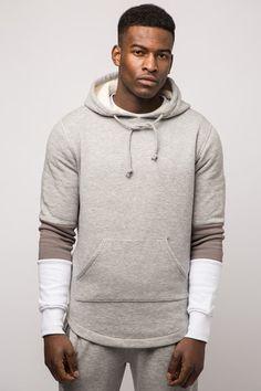 Avid & Co. Pullover Hood Grey Marl - Front