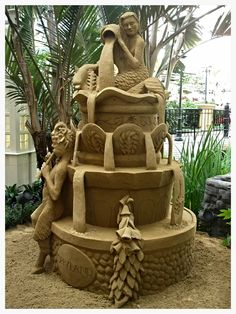 Fountain Sand Sculpture