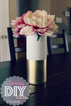 dollar store vase~ mine might be clear on top and a punch of color on the bottom!