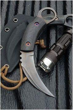 Harimau - Titanium Karambit by Tora Custom Knives / Guns Knives Gear