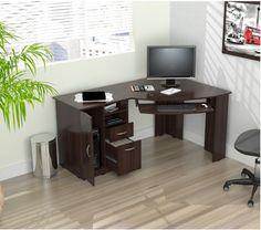 Computer Desk Workstation Corner Desk L Shaped Home Office Gaming Table Stand