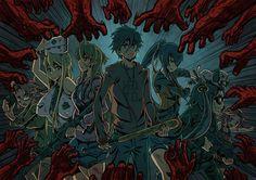 Anime 1400x990 Highschool of the Dead Komuro Takashi Miyamoto Rei Busujima Saeko…