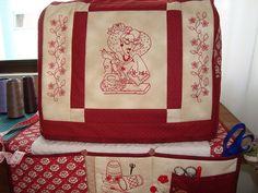 capa de maquina de costura com tapetinho. | Flickr - Photo Sharing!