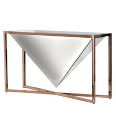 Transform your hallway or living room into a truly welcoming and unique space with the Elixir Console Table. Designed to impress in fine mirror glass and copper