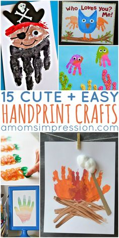 Love cherishing your children's hand prints in creative ways? Check out these 15 cute and easy handprint kids crafts!