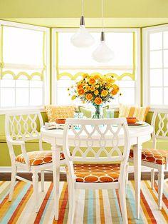 More aqua/orange and yellow! Bold and beautiful!