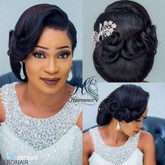 Wedding Hairstyles For Black Women Impressive 42 Black Women Wedding Hairstyles  Pinterest  Black Women