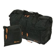 SKYPAK 53CM ONBOARD SIZE FOLDING TRAVEL BAG IN BLACK