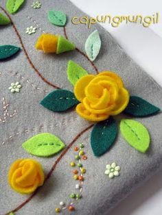 -capungmungil-: Rose Tutorial DIY-Flor de feltro