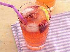 lemon-strawberry punch recipe from Betty Crocker - SO easy. All it takes is 3 cans of frozen lemonade, 1 box of frozen strawberries, and half a 2-liter of ginger ale!