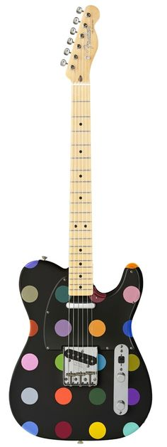 This Polka Dot Guitar is for rocking out with style.