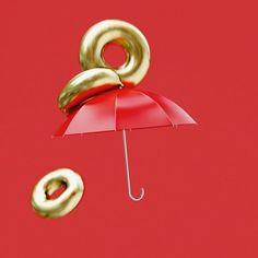 umbrella III #c4d #cinema4d #octane #octanerender #cg #animation #3d #simulation #cgi #umbrella #gold #otoy #maxon3d #gold #red #mdcommunity #mgcollective #artwork