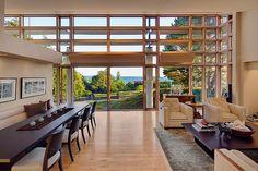 living room + dinning room