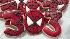 Spiderman Birthday Cookies