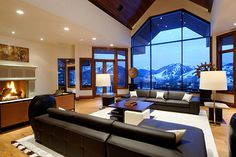 The 13,000-square-foot home was recently transformed into a mountain contemporary wonderland.