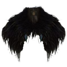 Phase Eight Alana feather cape (2.700 RUB) ❤ liked on Polyvore featuring outerwear, cape, jackets, accessories, coats, black, clearance, cape coat, feather cape and phase eight