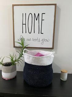 Modern Basket Crochet PATTERN Home Decoration Minimalism   Etsy