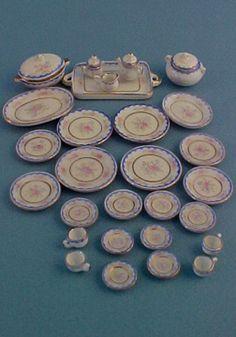 miniature porcelain dinner set