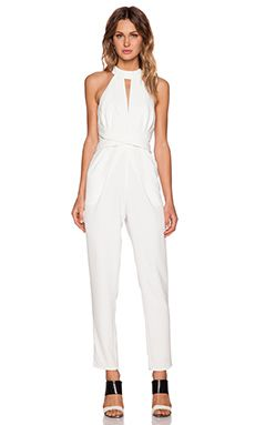 041022e3241 C MEO Breaking Hearts Jumpsuit in Ivory Designer Jumpsuits