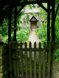 Through the cottage gate by Island Queen Photos on Flickr