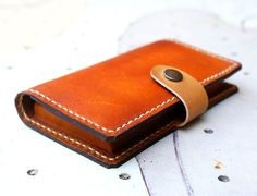 iPhone 4s Wallet Case  Cognac Wallet leather hand stitched by rntn, $42.00