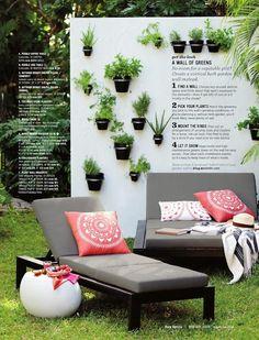 Vertical Herb Garden via West Elm May 2013 Catalogue
