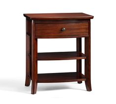 same height as Julia round table 28H  x  24W x 18D ?Aberdeen House '16 Home Tour Chloe Wood Bedside Table   Pottery Barn
