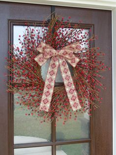 Red Berry Wreath, Christmas Wreath, Holiday Wreath, Christmas Berry Wreath, Winter Wreath, Holiday Berry Wreath, Red Berries Wreath