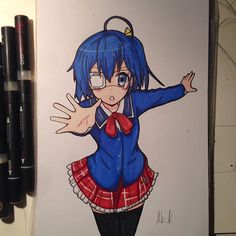 Awesome manga drawing by @anime_art_drawing_ using their Chameleon Pens!