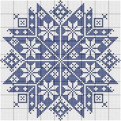 Ponto cruz (Monochrome Star), designed by Le point de croix martine (Martine Cross Stitch). Cross Stitch Freebies, Cross Stitch Charts, Cross Stitch Designs, Cross Stitch Patterns, Filet Crochet, Cross Stitching, Cross Stitch Embroidery, Tapestry Crochet, Knitting Charts