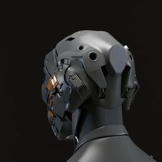 ArtStation - Asuka's helmet redesign wip, Juan Carlos Nunez