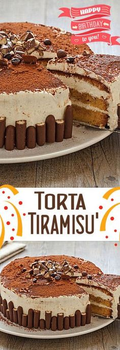 Torta tiramisù Tiramisu, Easy Desserts, Delicious Desserts, Yummy Food, Torta Ferrero Rocher, Blog Patisserie, Cookie Recipes, Dessert Recipes, Granny's Recipe