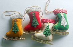Vintage Christmas Ornaments  Handmade by RSWVintage on Etsy, $10.00