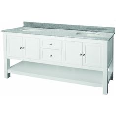 "Foremost FMGAWAT7222D 72"" Double Basin Vanity White #Foremost"